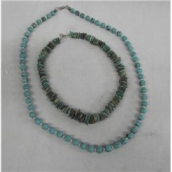 Navajo Turquoise Bead Necklaces