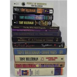 Tony Hillerman Book Collection, 13 Hard/soft Backs, Two Signed, Some First Editions