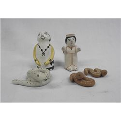 Vintage Collection of Acoma Pottery Figurines