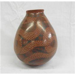 Mata Ortiz Polychrome Rattlesnake Jar by Gonzalez