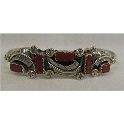 Zuni Sterling Coral Bracelet by Amy Locaspino