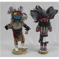 Two Hopi Dancer Kachinas