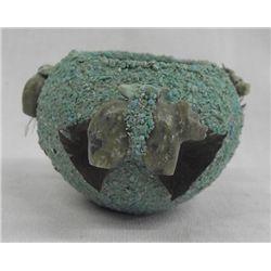 Zuni Crushed Turquoise Fetish Jar