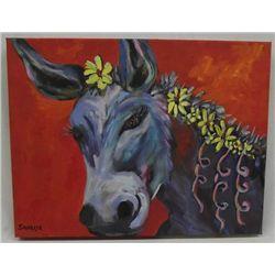 Original Oil ''Delilah'' by Judy Savarese