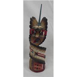 Hopi ''Yellow Ahote'' Kachina by T. Todacheenie