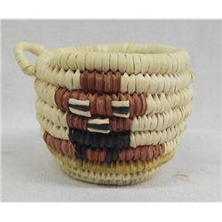 Hopi Miniature Tricolor Mudhead Basket