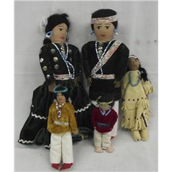 Collection of Navajo Cloth Dolls