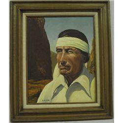 Original Framed Oil by S. Melendres
