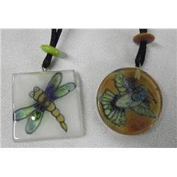 Handmade Glass Pendant Necklaces