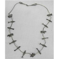 Older Estate Heavy Silver Fetish Necklace