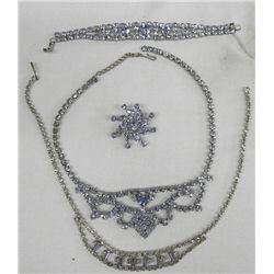 Collection of Rhinestone Jewelry