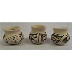 Mata Ortiz Polychrome Miniature Pots