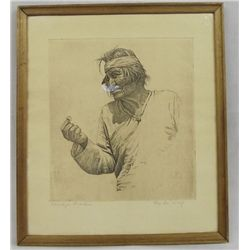 De Wolf Framed Engraving