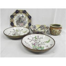 Collection of Asian Porcelain Bowls & Plate