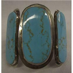 Southwestern Sterling Turquoise Bracelet