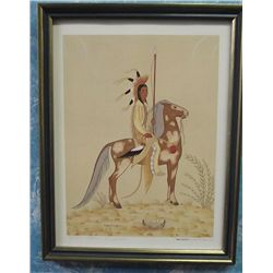 Solomon McCombs Signed & Numbered Print War Scout