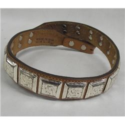 Leather Child's Cowboy Belt with Square Conchos