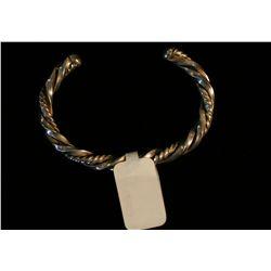 Navajo Twisted Silver Wire Bracelet,