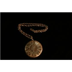 Taxco Aztec Sundial Style Necklace,