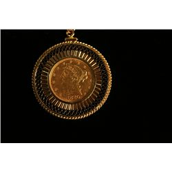 Gold Coin Necklace,