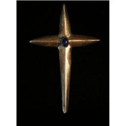 Sterling Sand Cast Cross,
