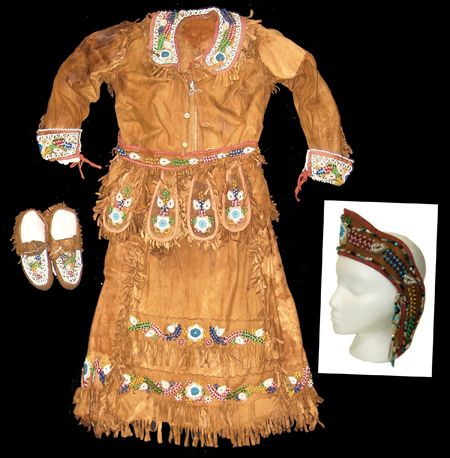 Iroquois Beaded Outfit