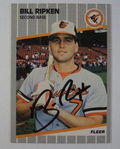 1989 Fleer Baseball Card Autographed Bill Ripken Black Box Version