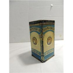 VINTAGEMONARCH COCOA  1920S METAL TIN
