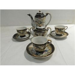 LOT 10 VINTAGE WALES DRAGON TEA POT, SUGAR, CUPS &