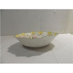 ANTIQUE 1890S R.S. PRUSSIA  FINE CHINA FLORAL BOWL