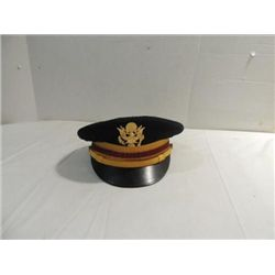 MILITARIANA DRESS OFFICER'S HARD BRIM HAT - WWII?
