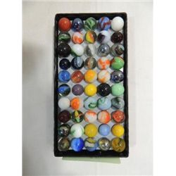 LOT 50 VINTAGE MARBLES MIX STYLES & MAKERS