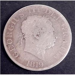 1819 LIX Great Britain Silver Crown Coin George III