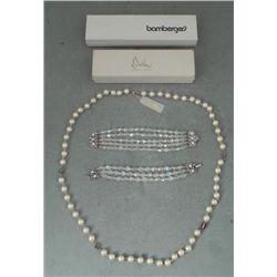 Bracelets & Necklace Jewelcraft Crystal & Carolee Pearl