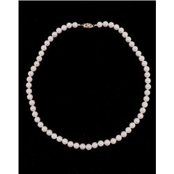 RARE NATURAL SALT WATER AKOYA PEARL NECKLACE