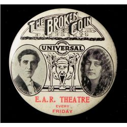 """Broken Coin"" Celluloid Mirror Silent Movie Promo 1915"