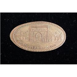 1933 Chicago Worlds Fair Elongate Penny Morocco