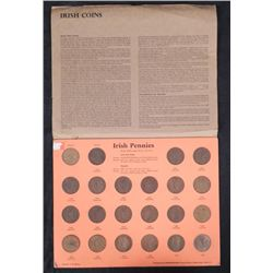 Irish Penny Collection 22 Diff Pennies 1928-1968