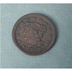 1953 Large One Cent Coronet Head -High Grade