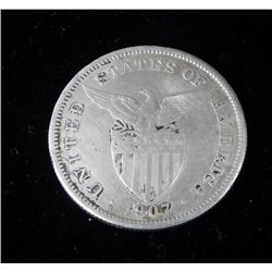 High Grade 1907-S Philippines One Peso Silver Coin