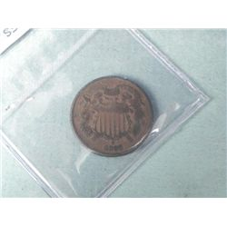 1868 Two-Cent Piece High Grade -Sealed