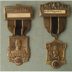 1933 AND 1939 VINTAGE AMERICAN LEGION CONVENTION BADGES