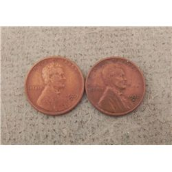 1929-S & 1932-D Lincoln Cents XF