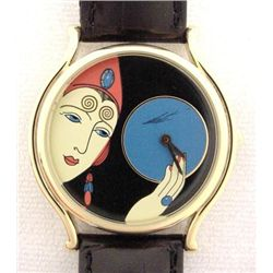 Great Unusual Graphic Art Deco Erte Ladies Watch Gift