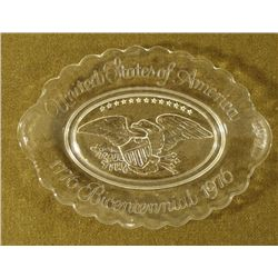 US BICENTENNIAL 1776-1976 GLASS PLATTER