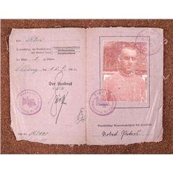 PRE-WWII 1933 FUHRERSCHEIN TRANSITIONAL LEADER ID PHOTO