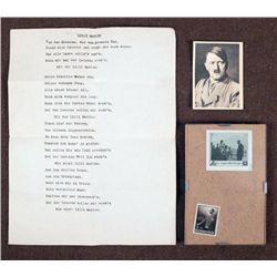 PHOTO OF HITLER, STAMPS/FRAMED-LILLI MARLEN FROM NAZI
