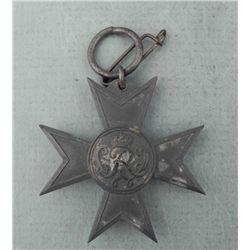 IMPERIAL GERMAN MALTESE WAR CROSS-CROWNES CYPHER-FUR KR