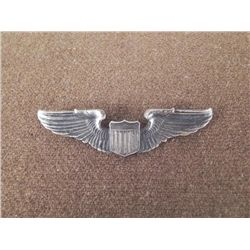 """WWII PILOT'S WINGS-FULL 3"""" SIZE-NICE AGE PATINA"""