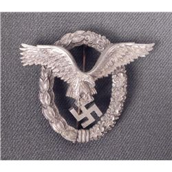 LUFTWAFFE PILOT'S BADGE-LATE WAR-WITH REPLACEMENT PIN